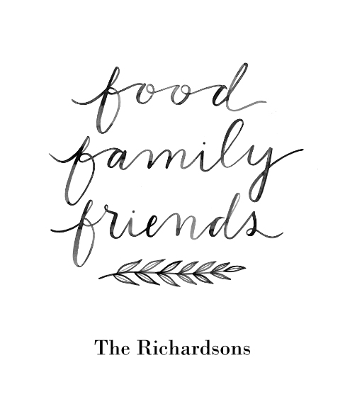 Non Photo Framed Canvas Print, Oak, 20x24, Home Décor -Food Family Friends