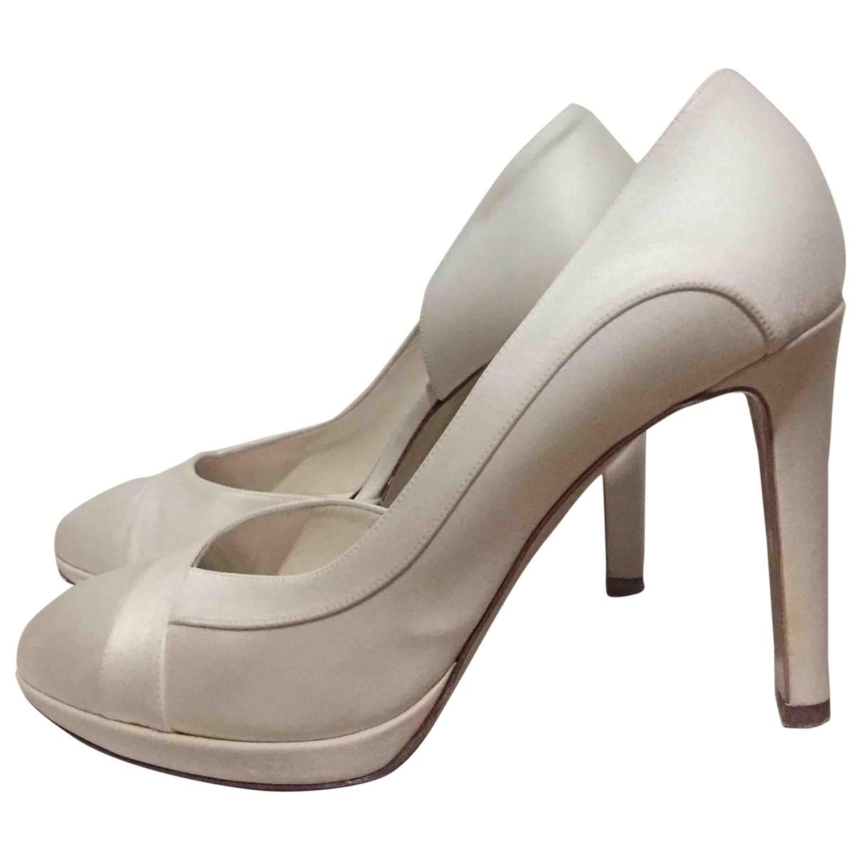 - Escarpins   pour femme en toile - blanc