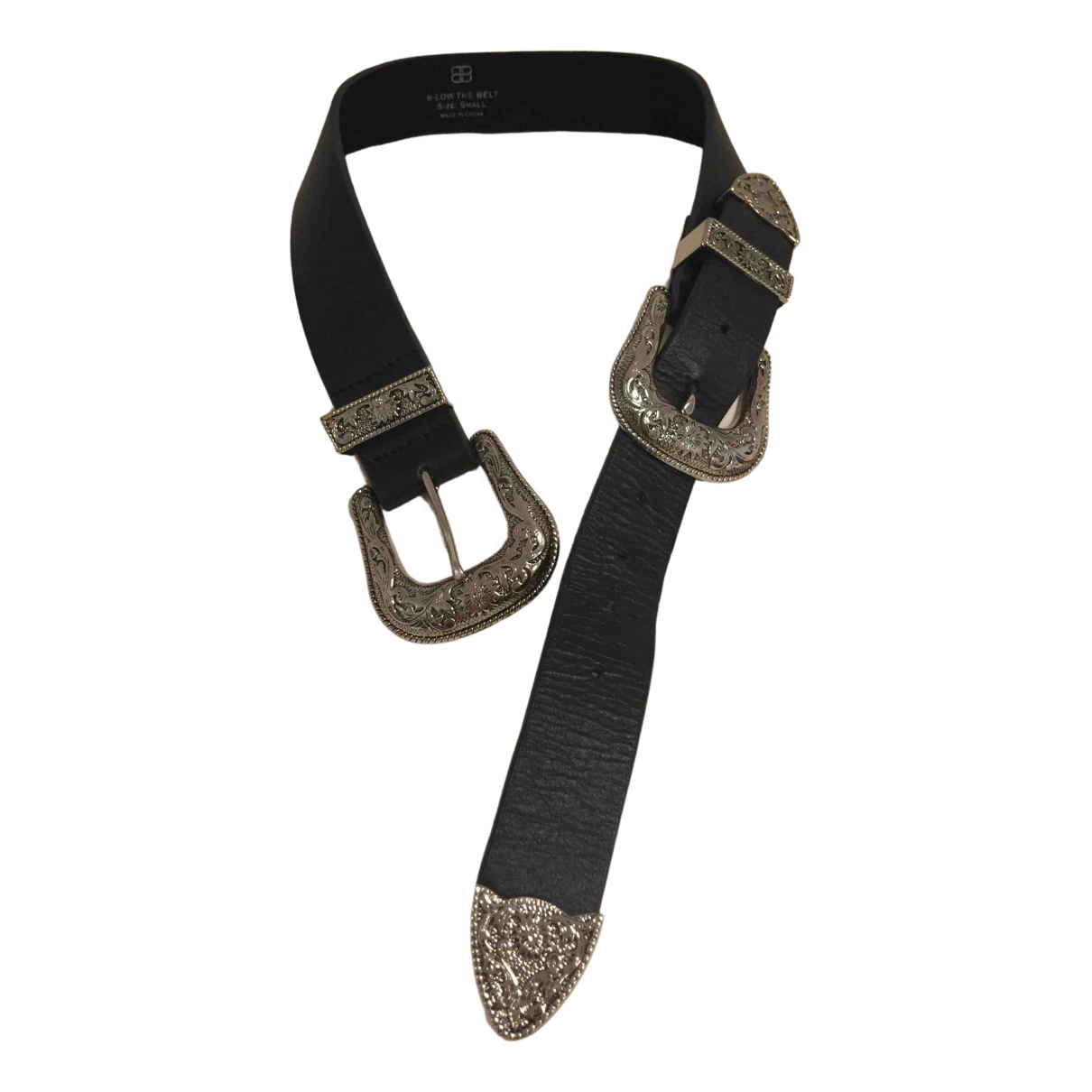 Free People \N Black Leather belt for Women S International