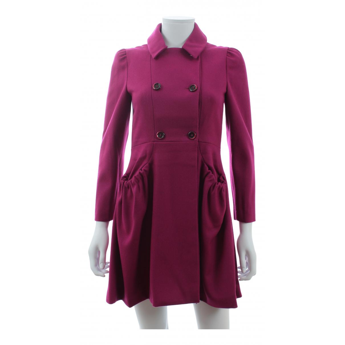 Miu Miu N Burgundy Wool coat for Women 38 IT