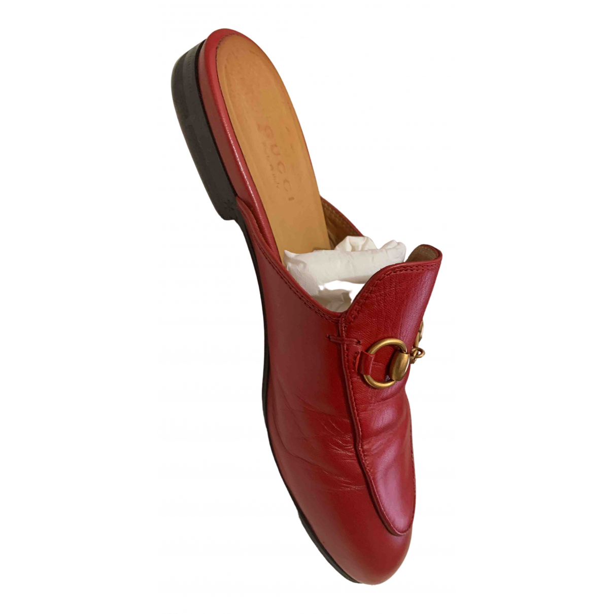Gucci Princetown Mokassins in  Rot Leder