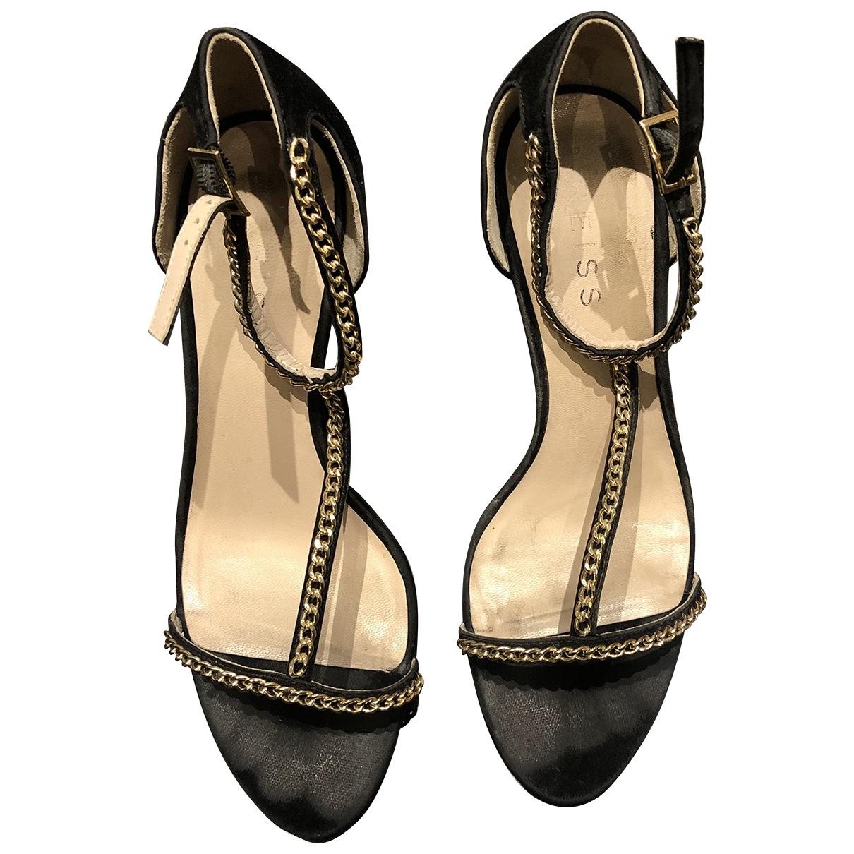 Reiss - Sandales   pour femme en cuir - noir
