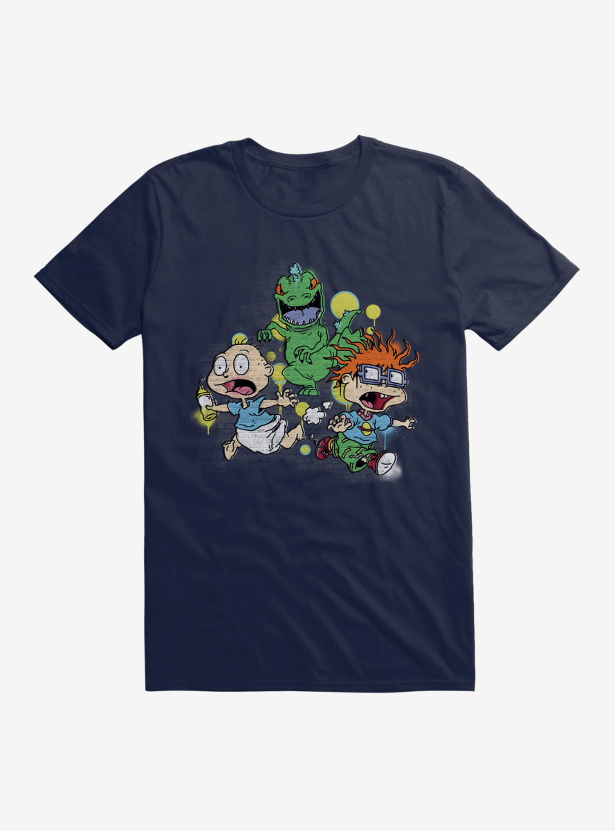 Rugrats Reptar Run Graffiti T-Shirt