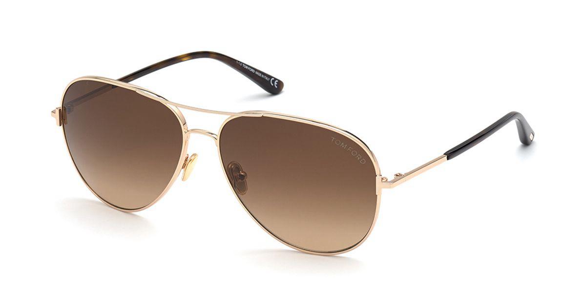 Tom Ford FT0823 CLARK 28F Men's Sunglasses Gold Size 59