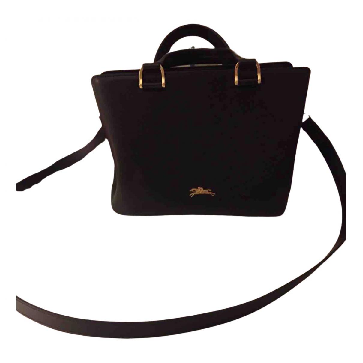 Longchamp N Black Leather handbag for Women N