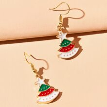 Christmas Tree Drop Earrings