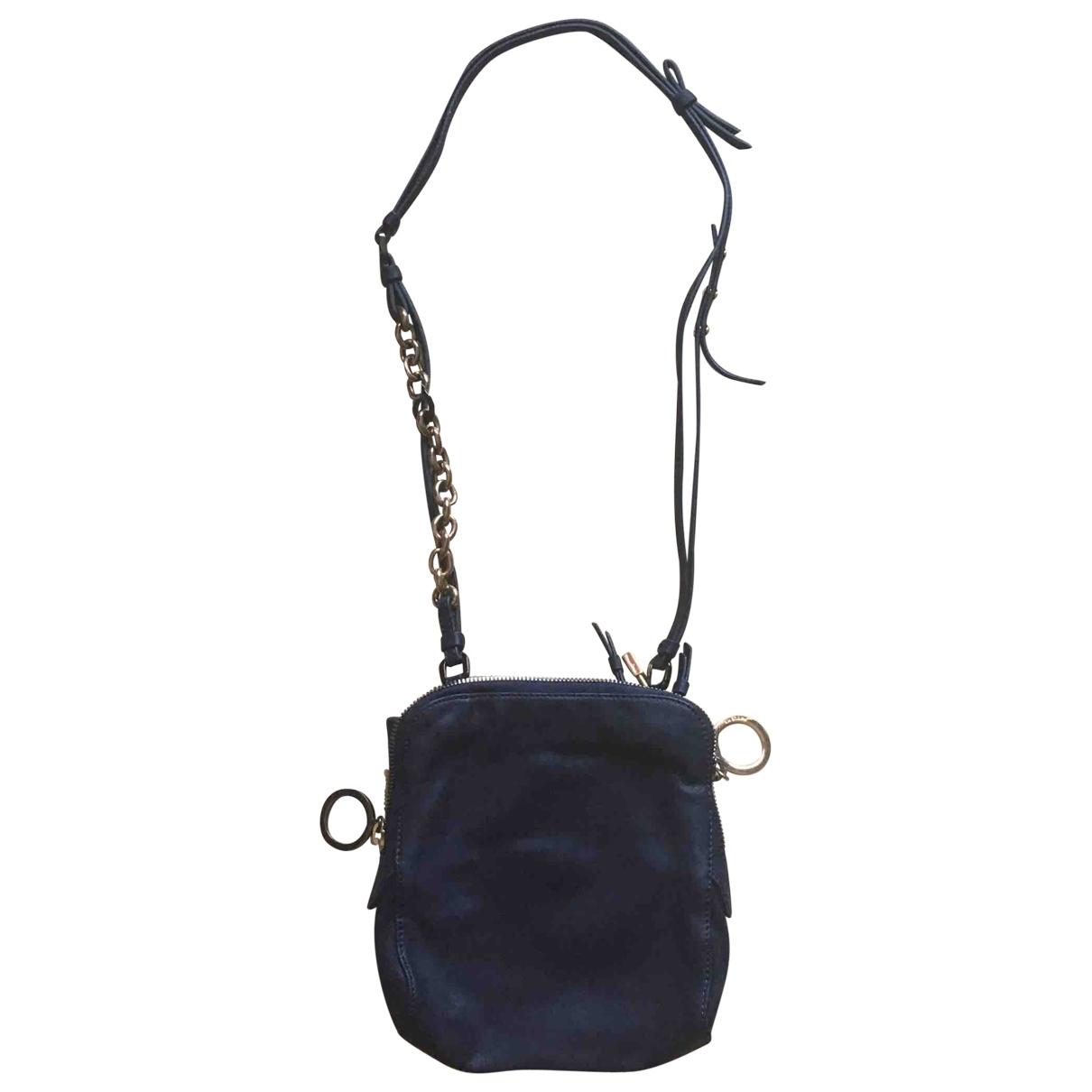 Paule Ka \N Handtasche in  Schwarz Leder
