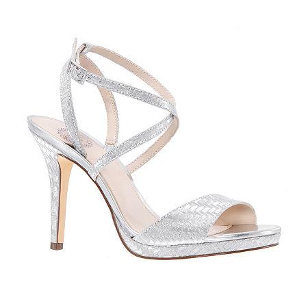 I. Miller Womens Rabeca Heeled Sandals, 7 Medium, Silver