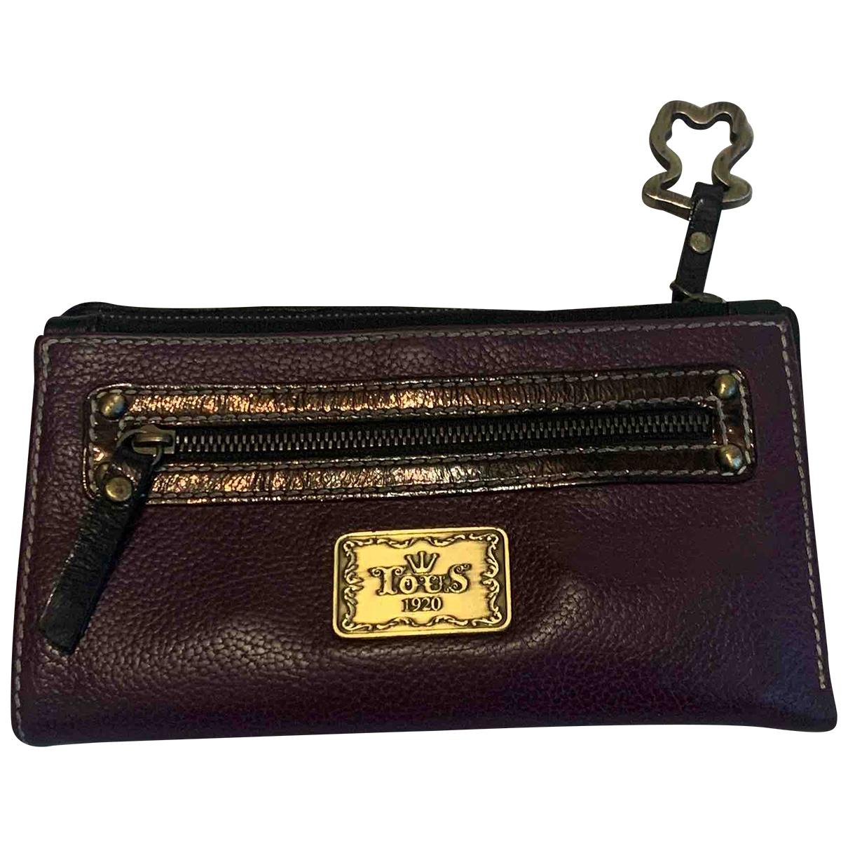 Atelier Tous \N Purple Fur wallet for Women \N