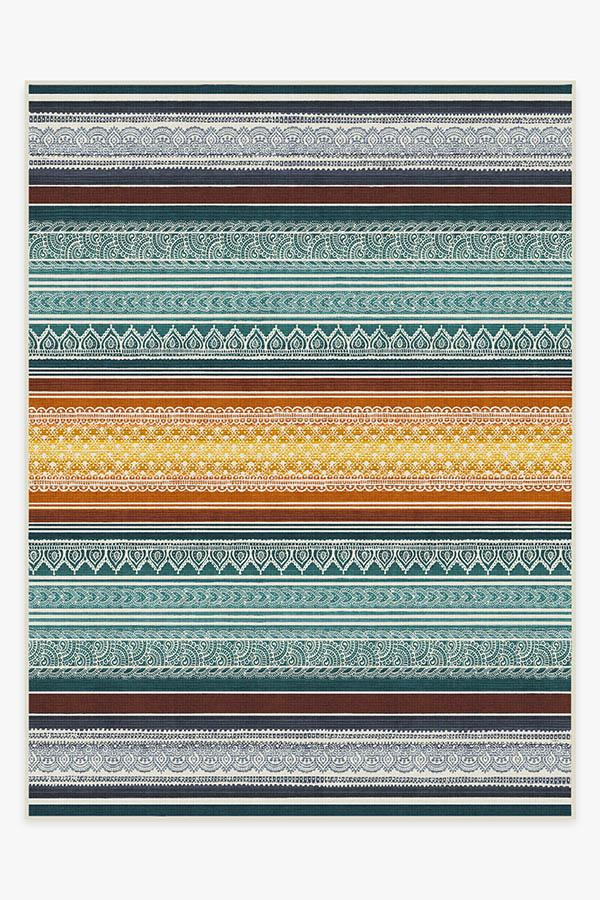 Washable Rug Cover & Pad | Nira Polychrome Rug | Stain-Resistant | Ruggable | 9'x12'