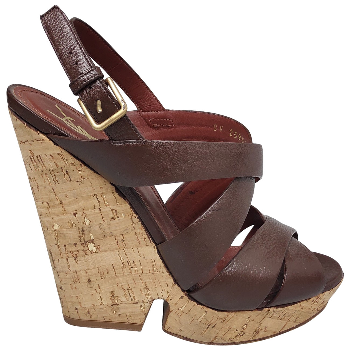 Yves Saint Laurent \N Brown Leather Sandals for Women 40 EU