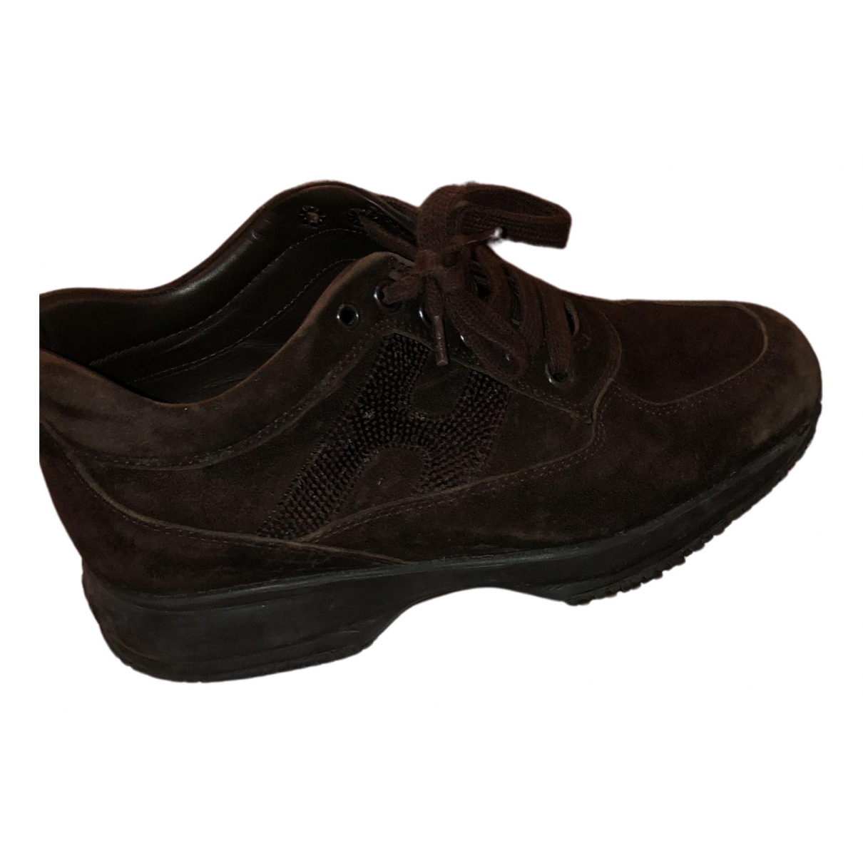 Hogan - Baskets   pour femme en suede - marron