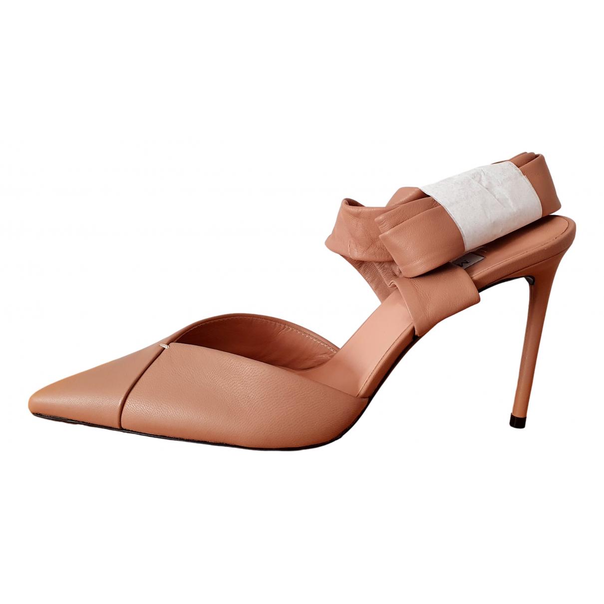 Sandalias de Cuero Max Mara