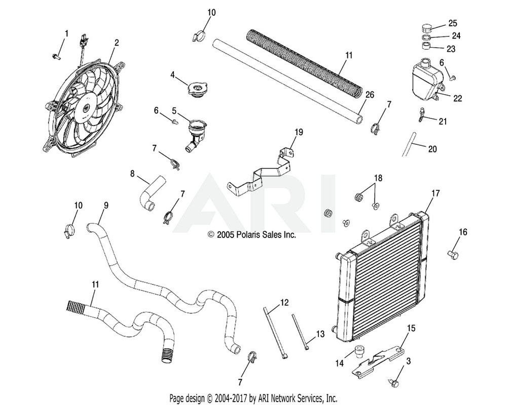Polaris OEM 5521748 Guard, Hose, Plastic, 20 in. | [If built after 9/18/06]