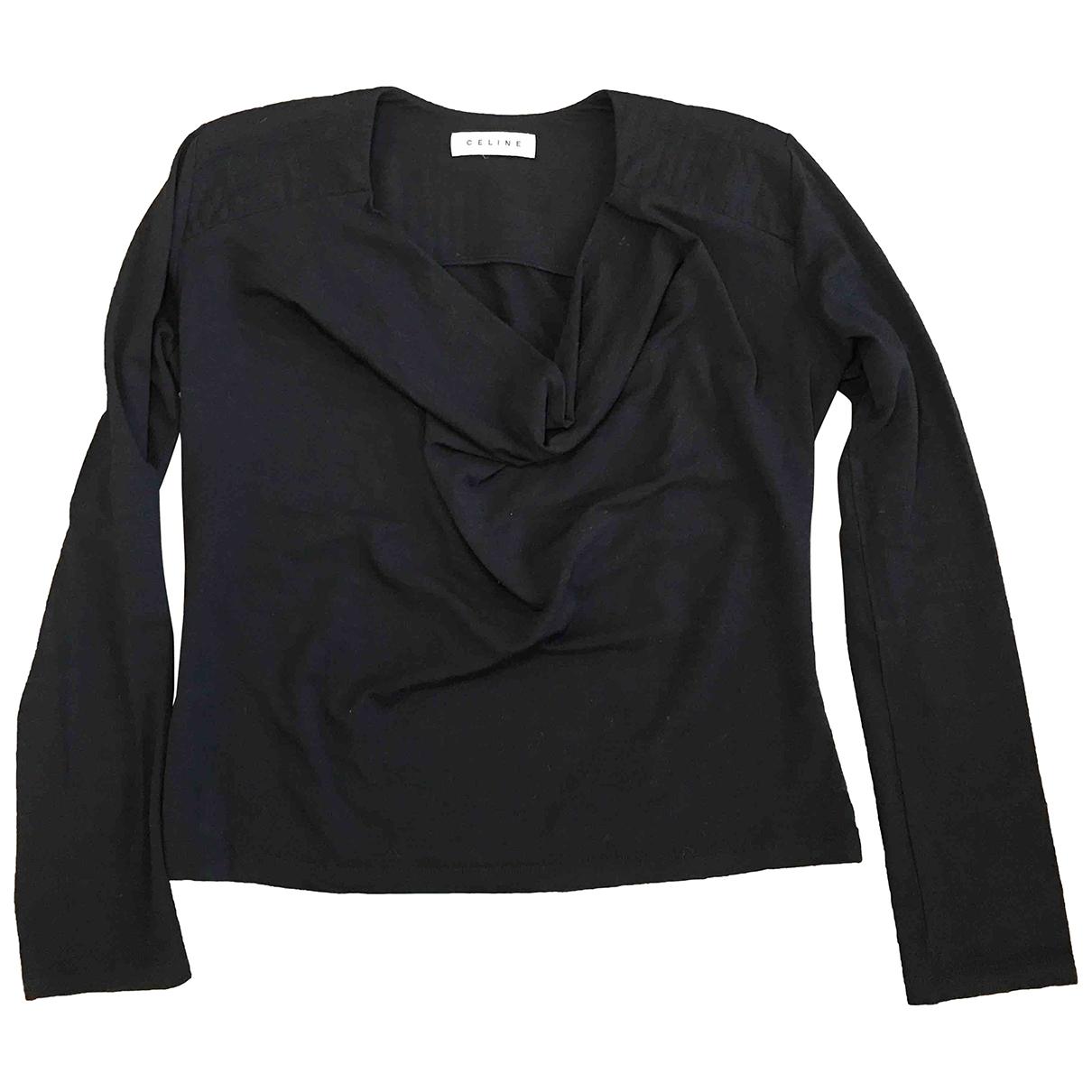 Celine - Pull   pour femme en laine - noir