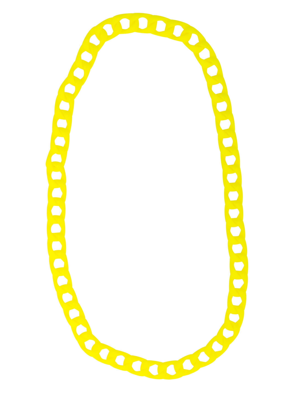 Kostuemzubehor Halskette neongelb