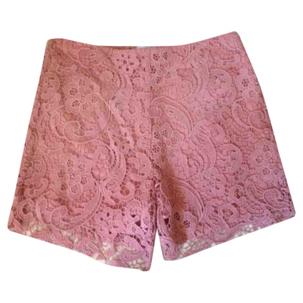 American Retro \N Pink Cotton Shorts for Women 36 FR