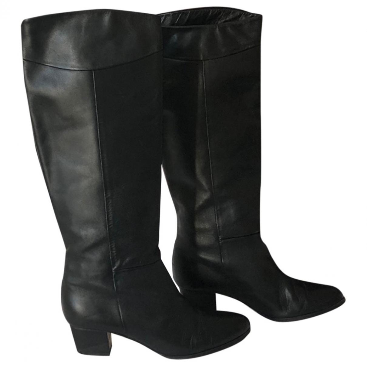 Karine Arabian \N Stiefel in  Schwarz Leder