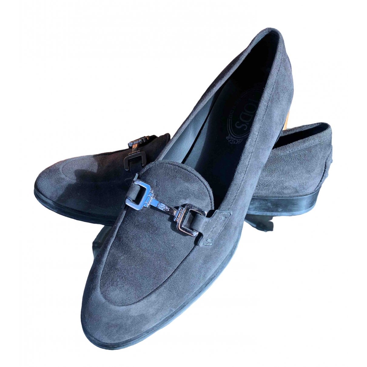 Tod's \N Grey Leather Flats for Women 41 EU