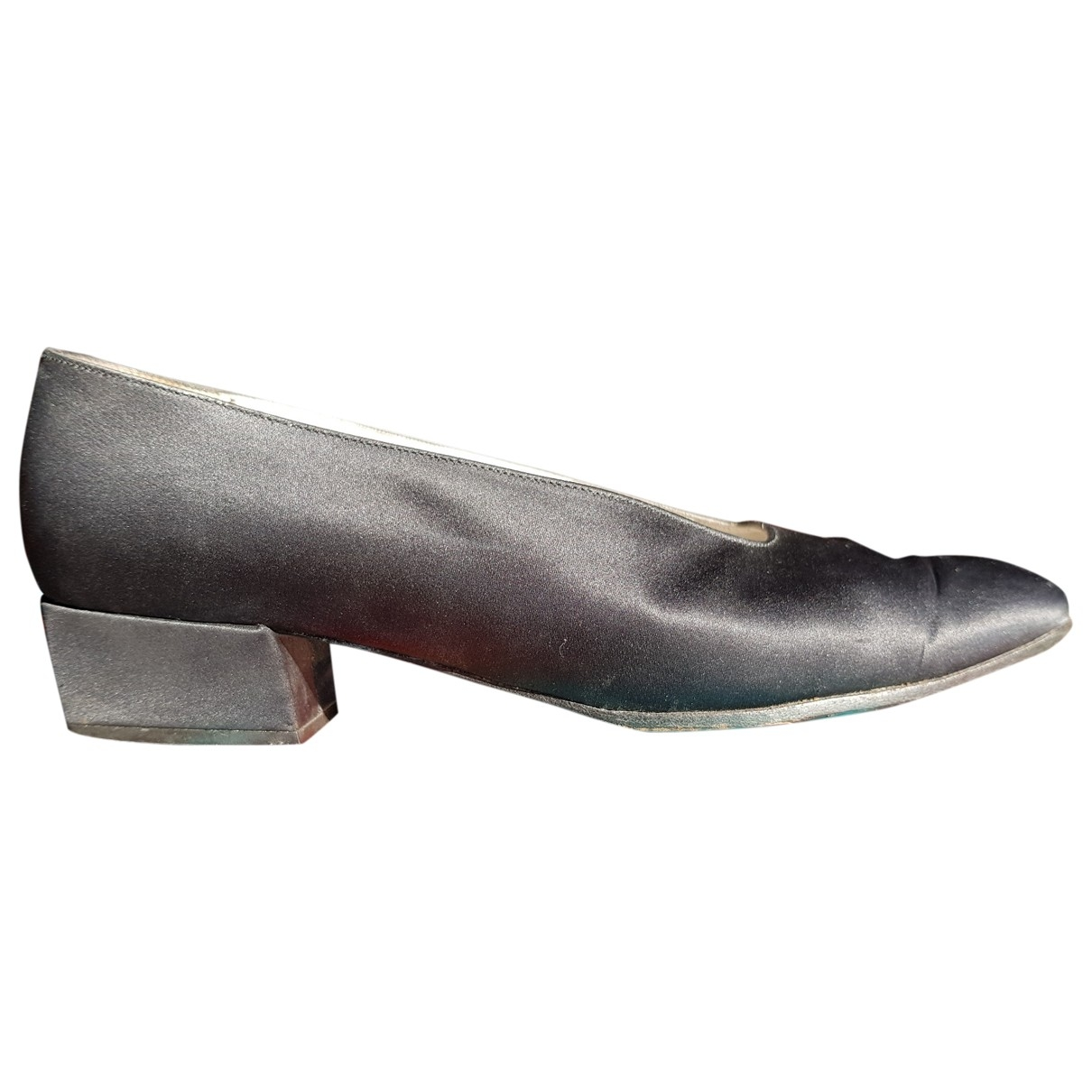Robert Clergerie \N Black Cloth Heels for Women 5 UK