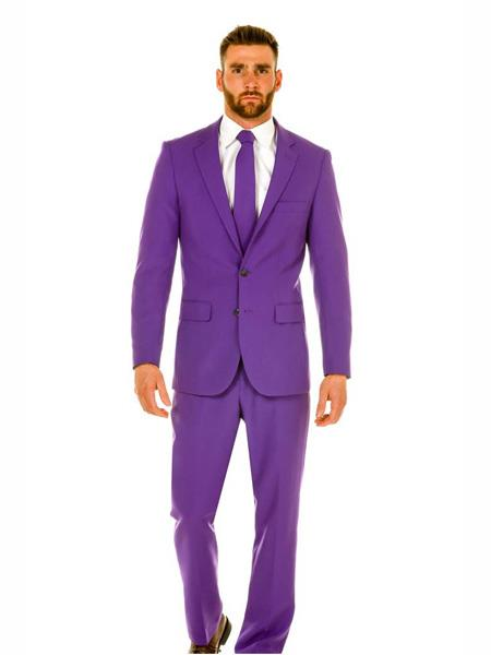 Mens Light Purple ~ Dark Lavender 2 Button Jacket + Pants