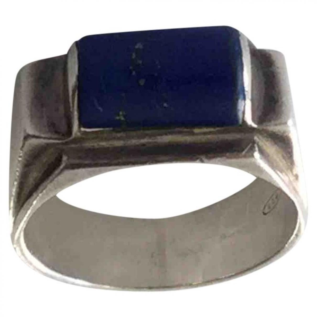 - Bague Lapis lazuli pour femme en argent - bleu