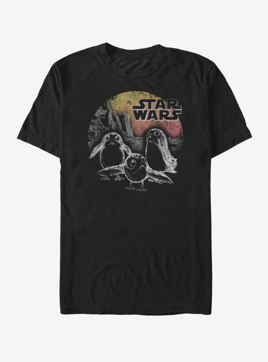 Star Wars Porg Sunset T-Shirt