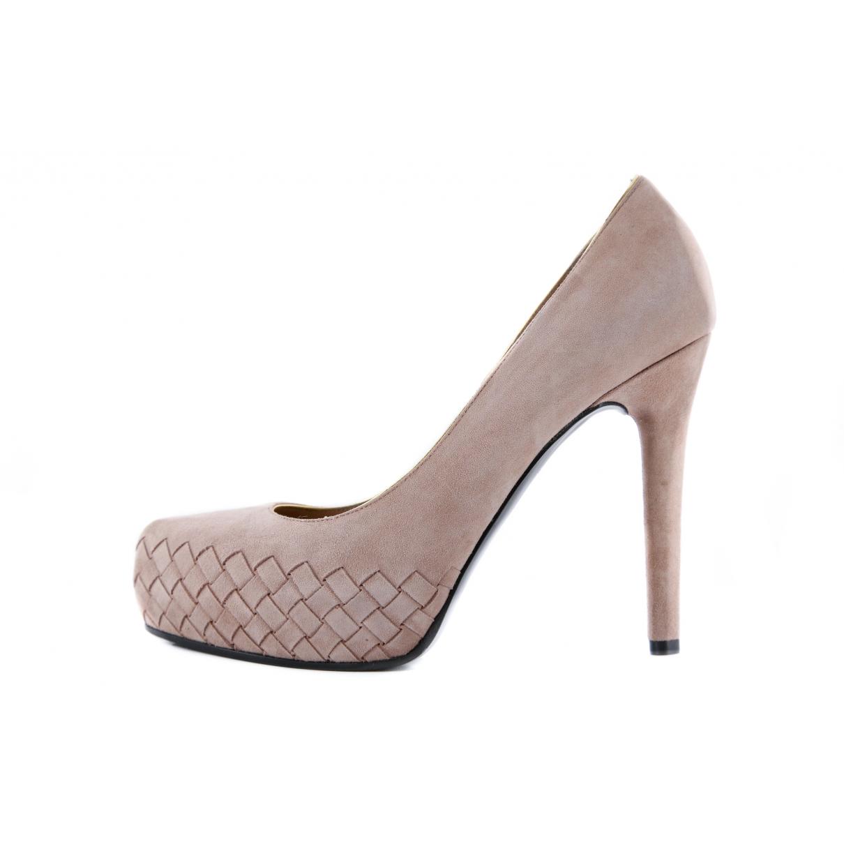 Bottega Veneta \N Pink Suede Heels for Women 39 EU