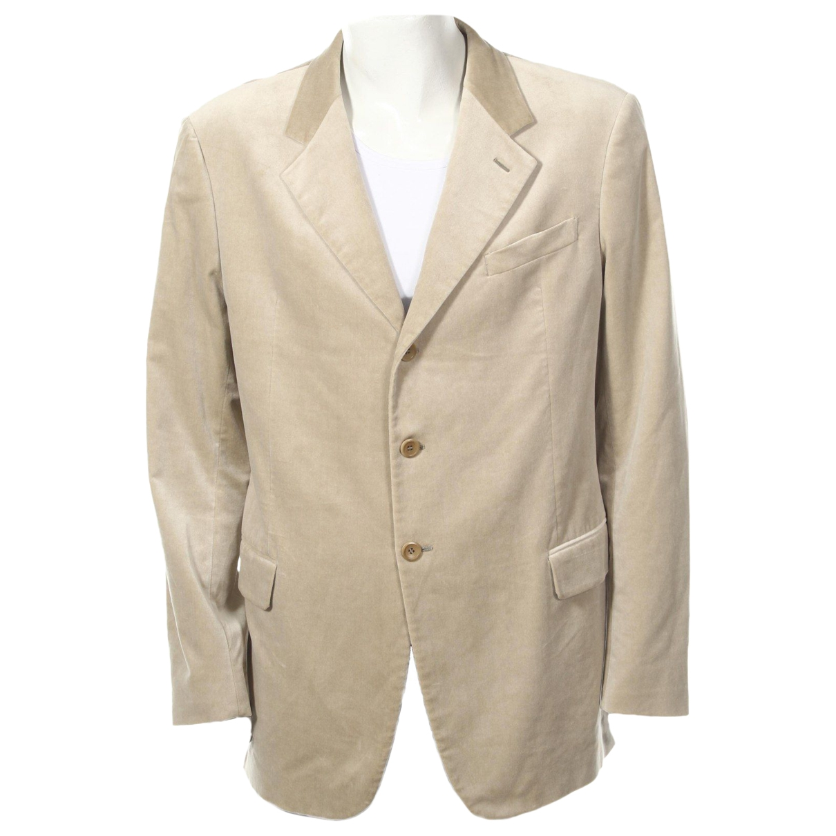 Armani Collezioni - Vestes.Blousons   pour homme en coton - beige