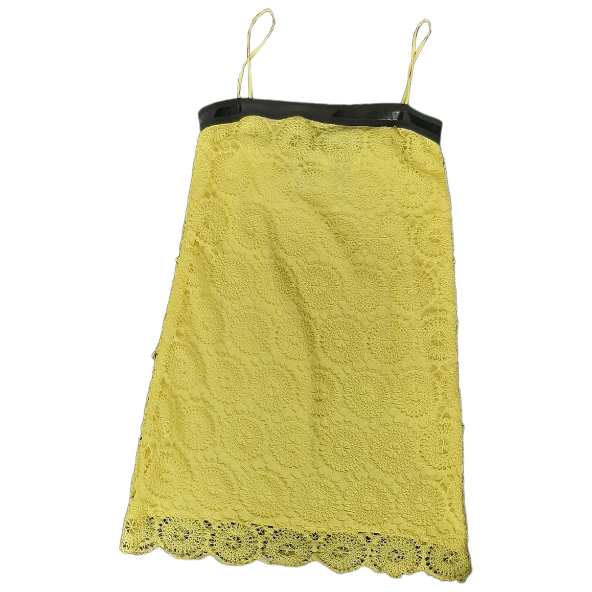 Non Signé / Unsigned \N Yellow Lace dress for Women 44 FR