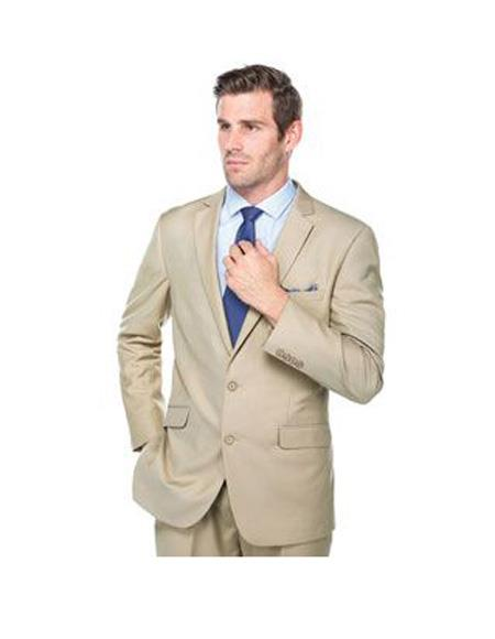 Mens Notch Lapel Single Breasted Mixture Slim Fit Suit