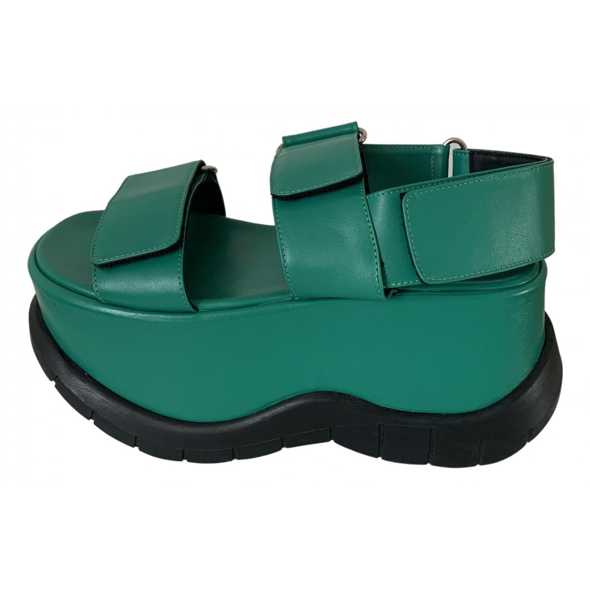 Sunnei - Sandales   pour femme en cuir - vert