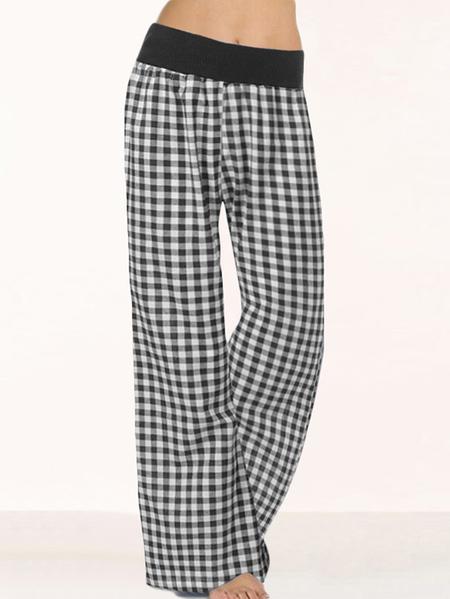 Yoins Celmia Elastic Waist Plaid Pants