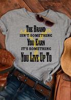 Yellowstone Slogan Graphic T-Shirt Tee - Dark Grey