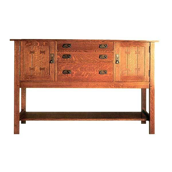 Woodworking Project Paper Plan to Build Mission Style Sideboard, AFD230