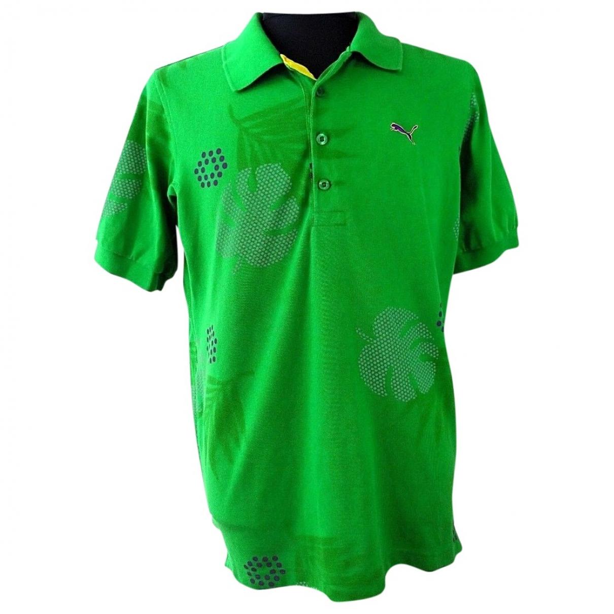 Polo en Algodon Verde Puma