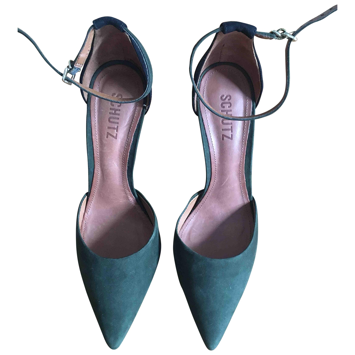 Schutz - Escarpins   pour femme en cuir - vert