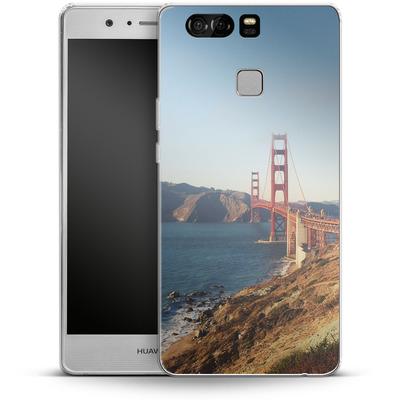 Huawei P9 Silikon Handyhuelle - Golden Gate Galore von Omid Scheybani