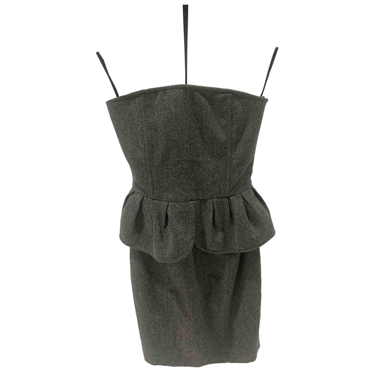 Elisabetta Franchi \N Grey Cotton dress for Women 40 FR