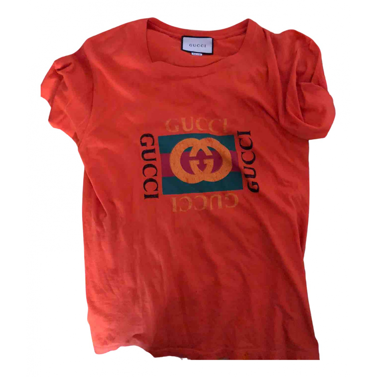 Gucci N Orange Cotton T-shirts for Men M International