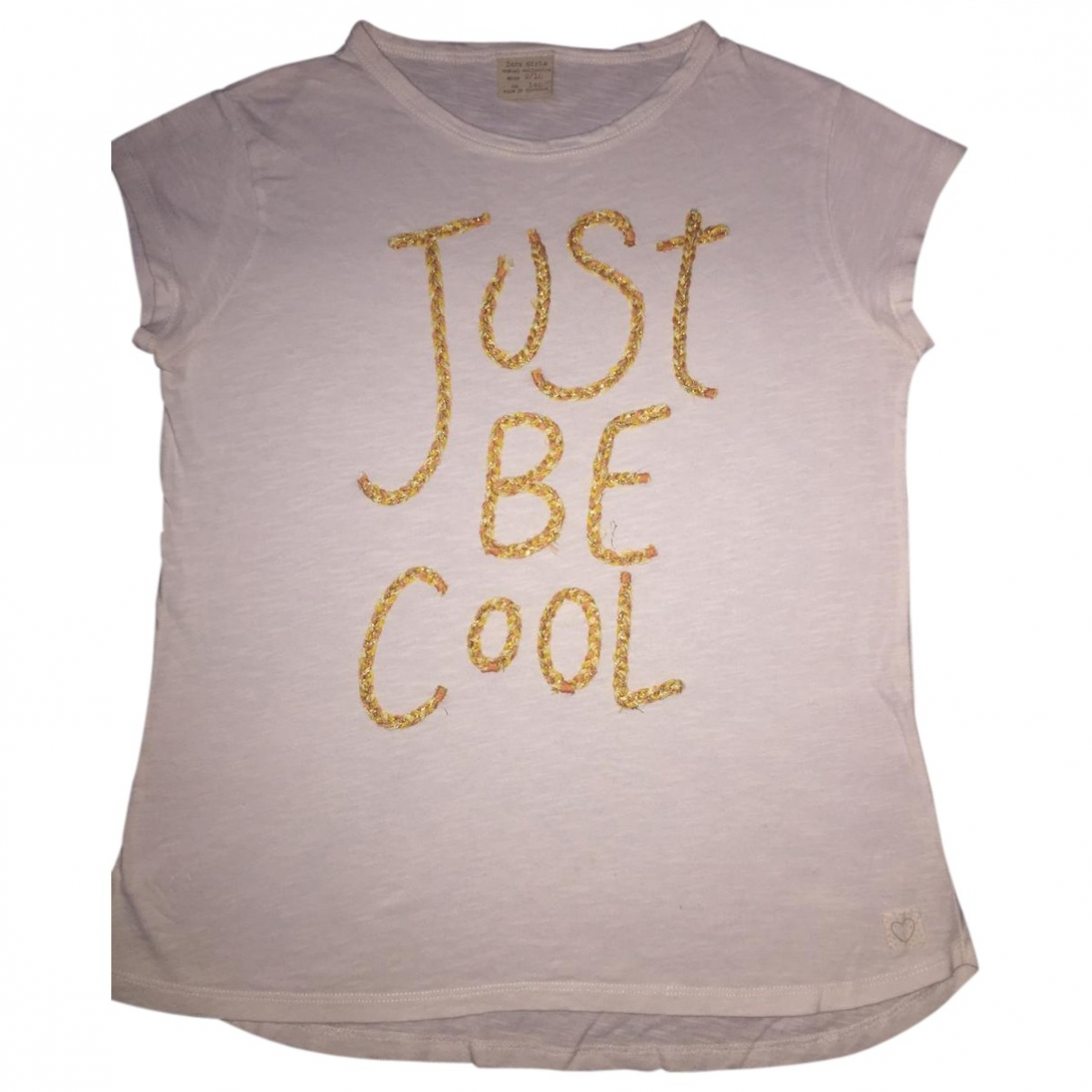 Zara \N White Cotton  top for Kids 10 years - up to 142cm