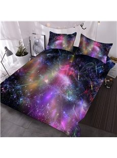 Colorful Dreamy Galaxy 3D Printed 3-Piece Comforter Sets