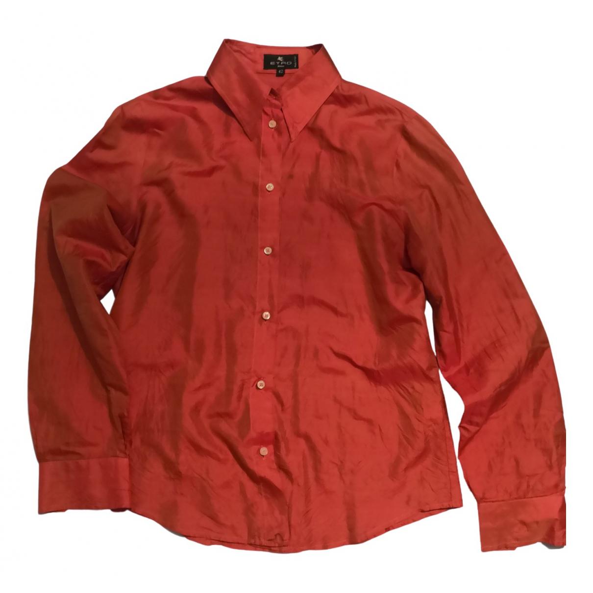 Etro N Orange Silk  top for Women 42 IT