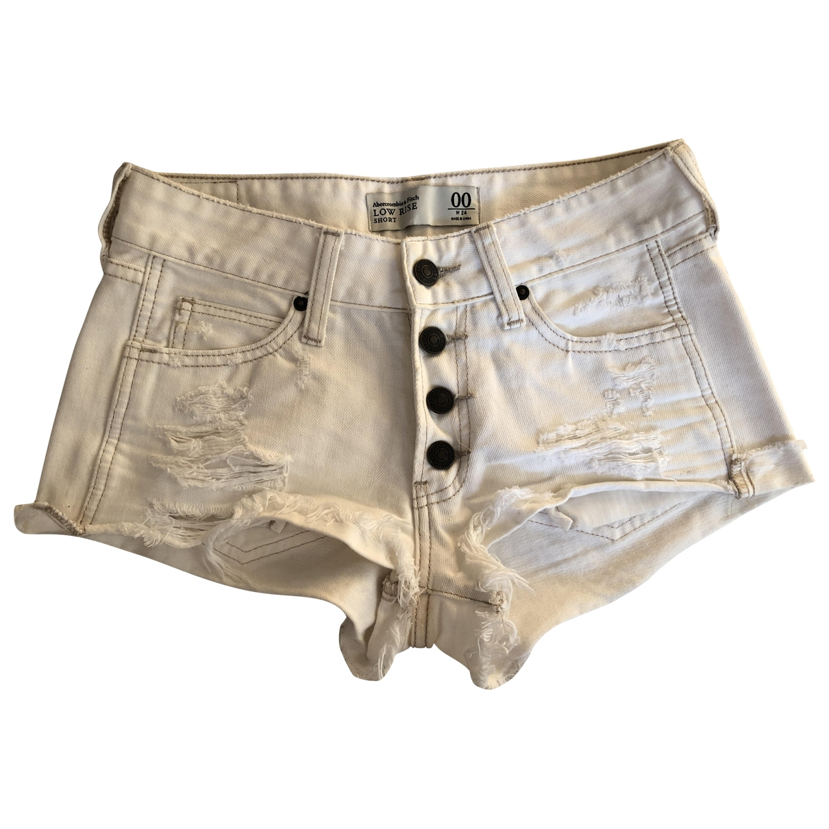 Abercrombie & Fitch \N White Denim - Jeans Shorts for Women XS International