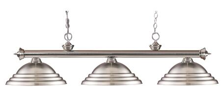 Riviera 200-3BN-SBN 16 3 Light Billiard Light Traditional  Classical  Billiardhave Steel Frame with Brushed Nickel finish in Brushed