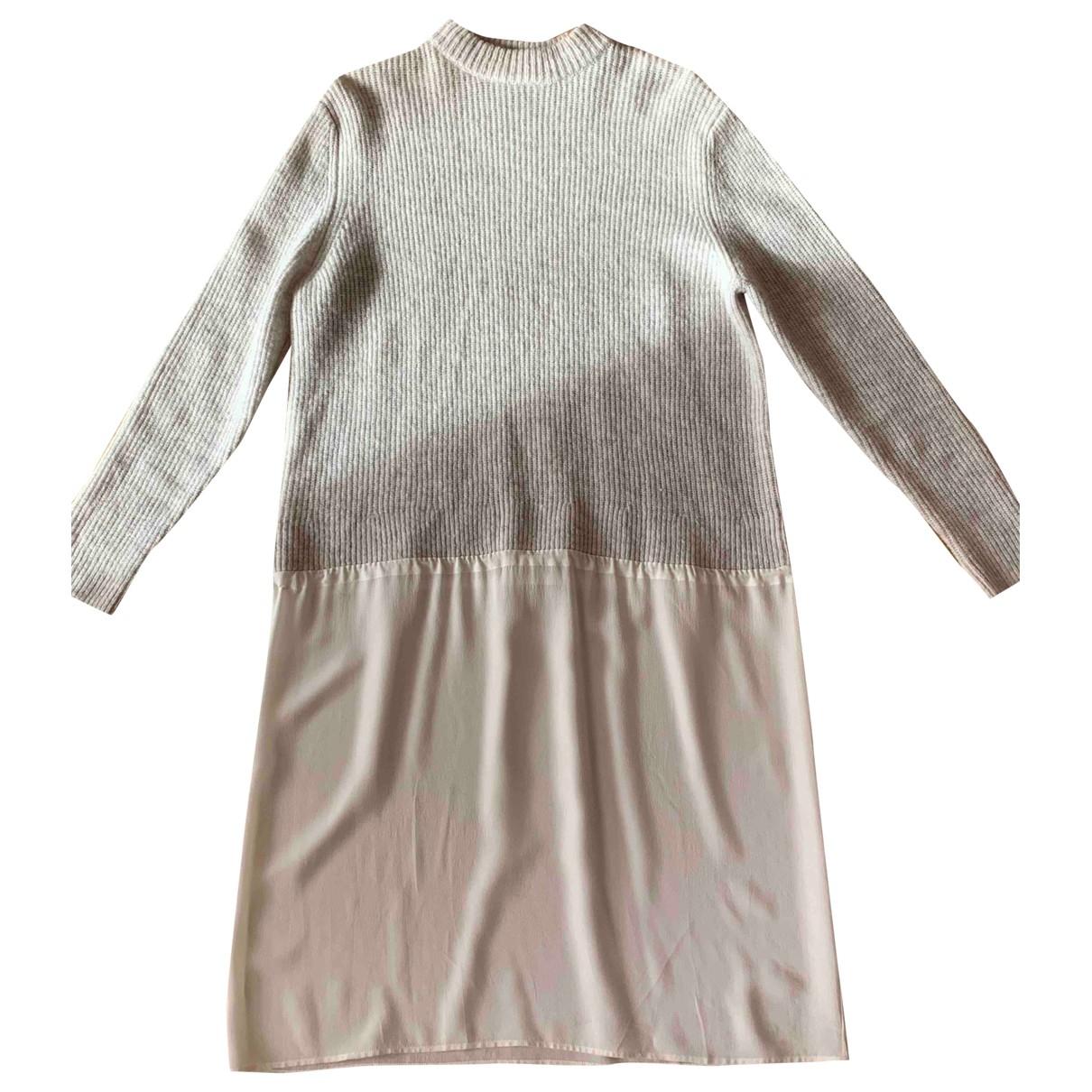 Cos - Robe   pour femme en laine - ecru