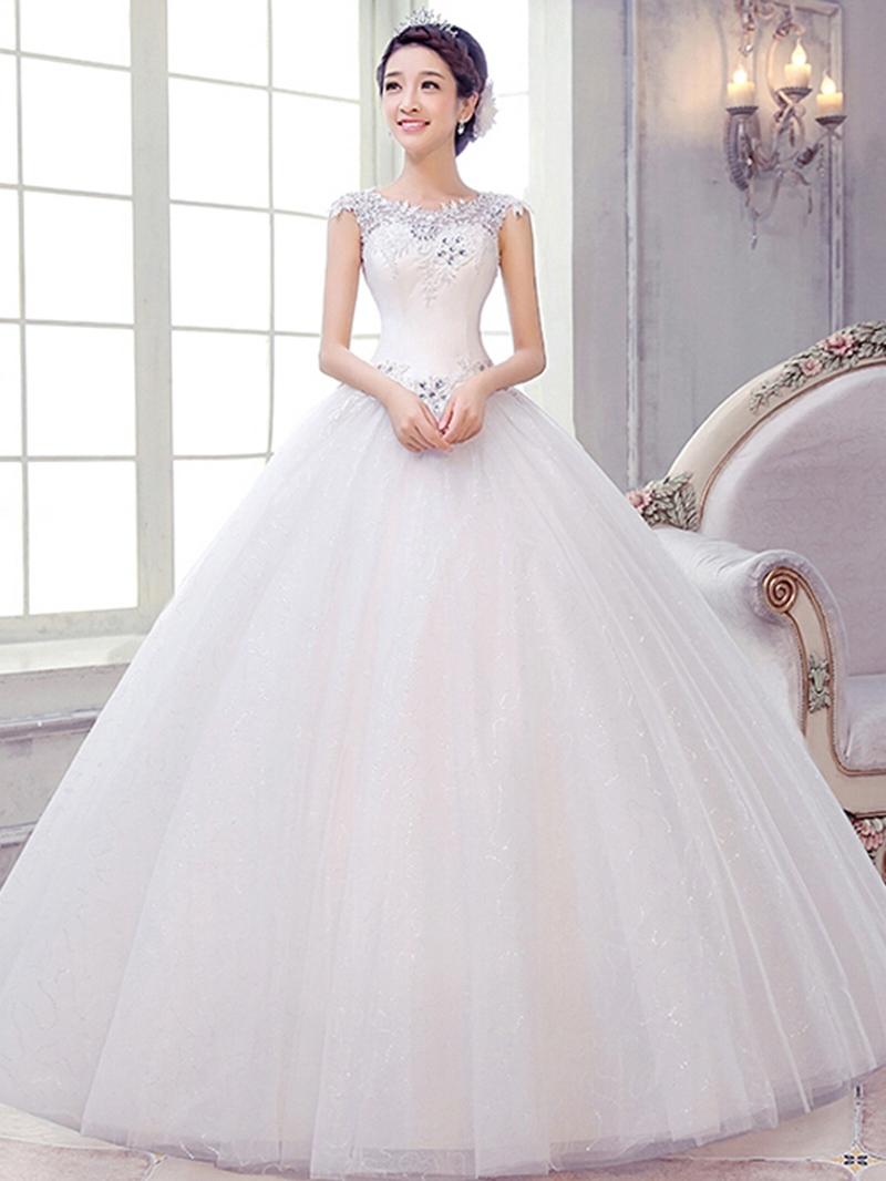 Ericdress Appliques Sequins Ball Gown Wedding Dress