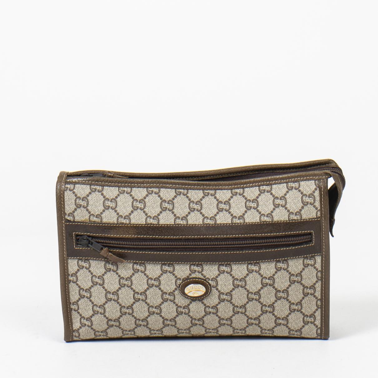 Gucci \N Clutch in  Braun Leder
