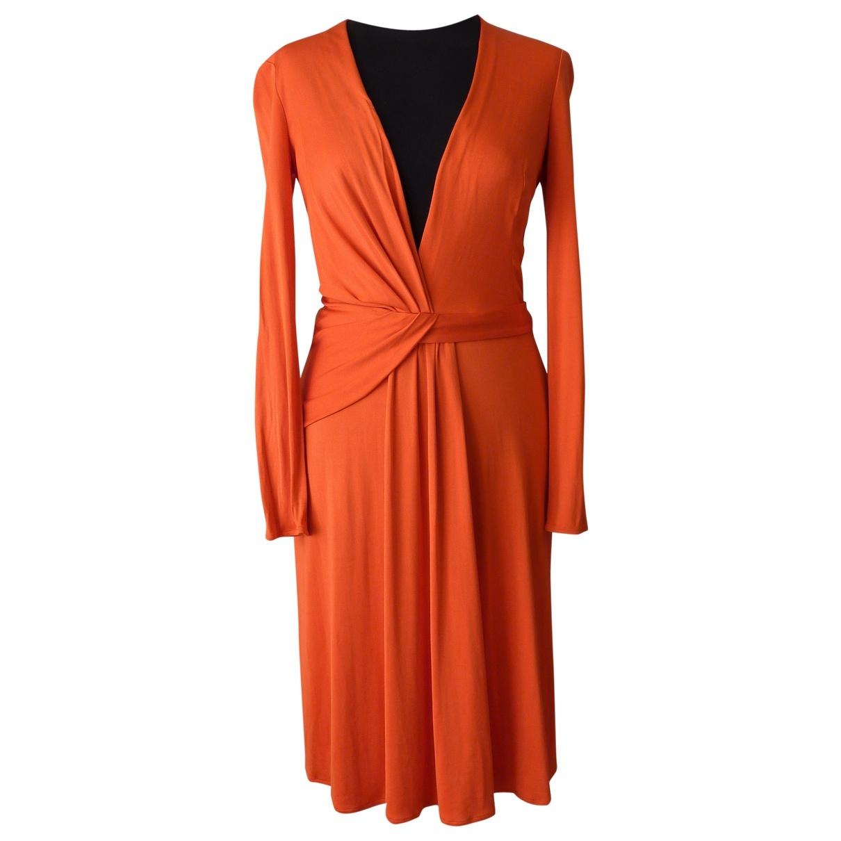 Issa \N Kleid in  Orange Seide