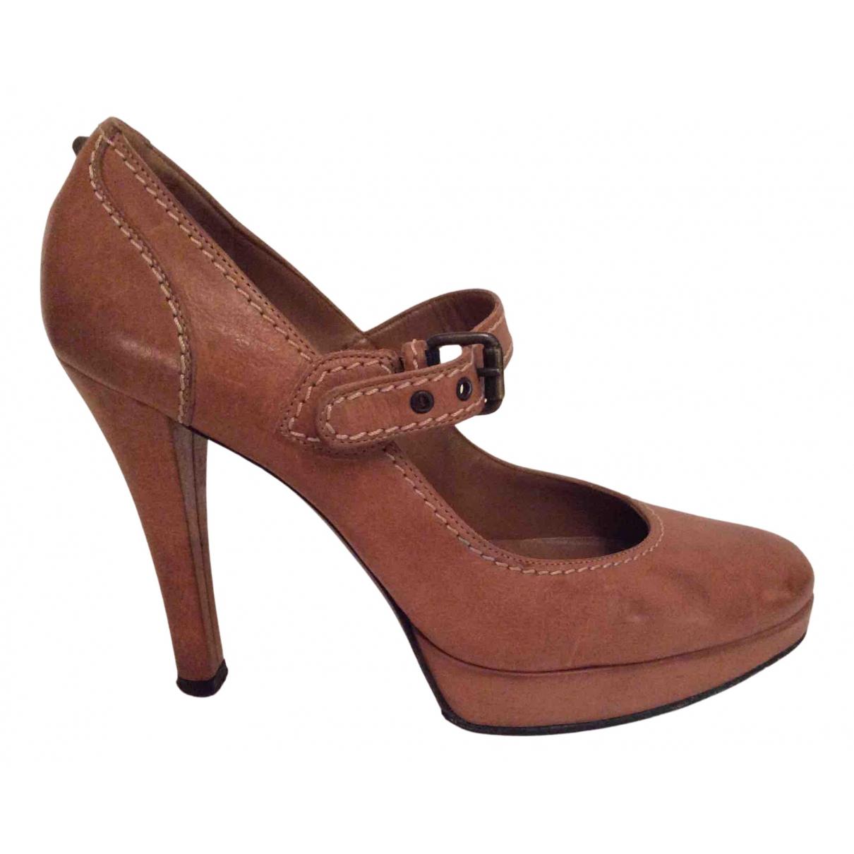 Russell & Bromley - Escarpins   pour femme en cuir - marron